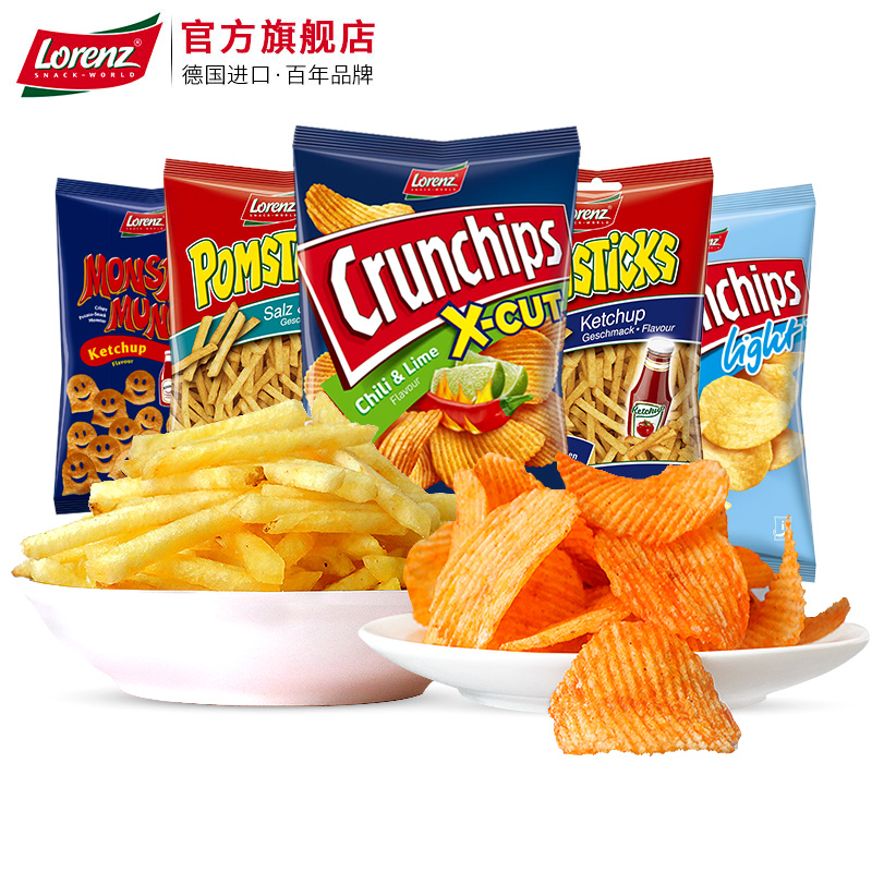 劳仑兹薯片类大包波浪女生膨化零食品薯片辣味多口味组合休闲薯条