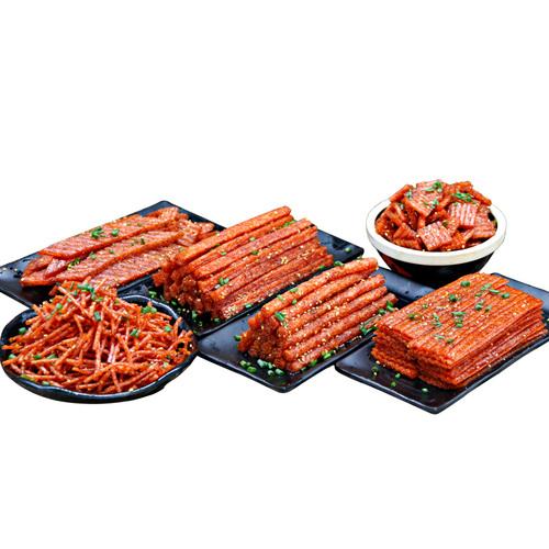 网红辣条大礼包怀旧儿时小零食混搭整箱面筋麻辣豆干散装辣片小吃