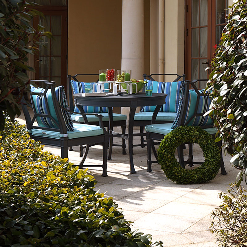 斐梵卡洛克户外家具阿帝比斯铸铝桌椅套件豪宅一桌四椅设计师促销