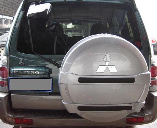 三菱猎豹帕杰罗V73 V75 V77改装专用备胎罩轮胎罩后胎罩壳 原车款
