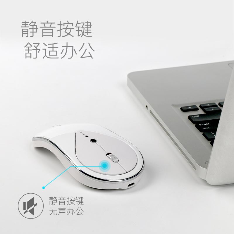 适用苹果mac联想小米三星华硕微软笔记本无线鼠标可充电女生静音