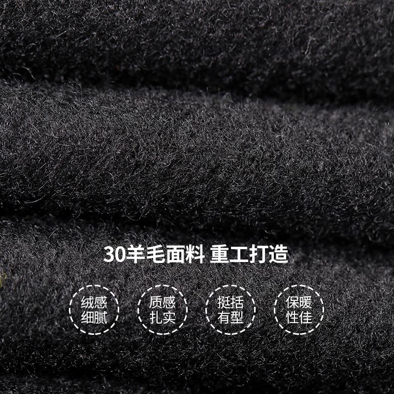 妖精的口袋赫本风黑色羊毛呢大衣女中长款2019秋冬季新款流行外套