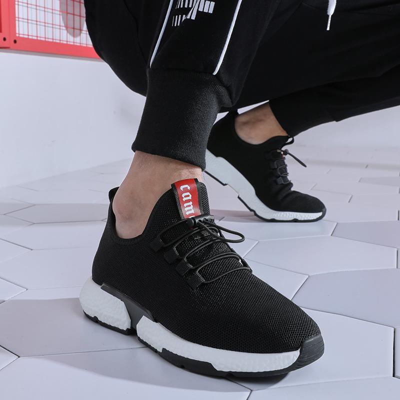 骆驼男鞋2019秋季男士透气网面运动鞋跑步鞋潮流休闲鞋男乐福鞋子