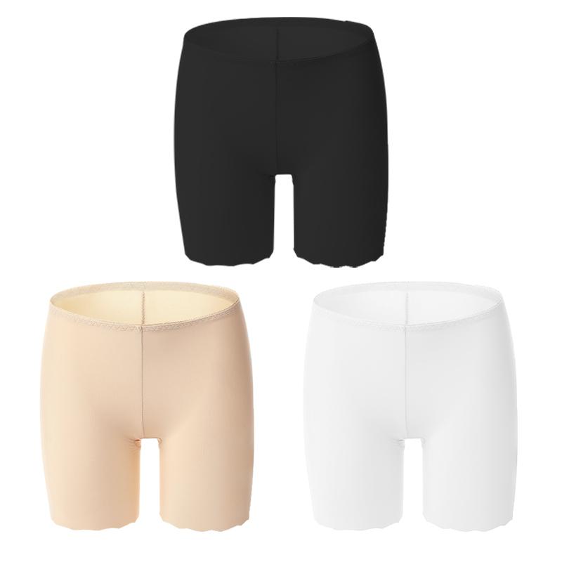 浪莎安全裤防走光女夏薄款冰丝无痕夏季保险裤蕾丝黑色打底裤内穿