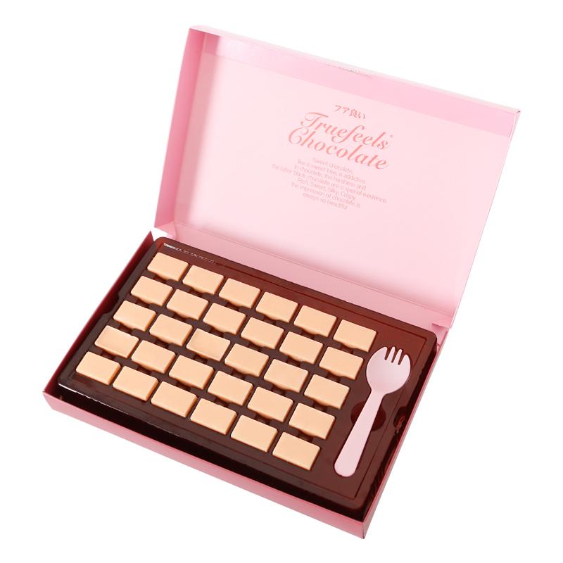 日式松露生巧克力黑巧零食礼盒装送女友白桃生日礼物(代可可脂)