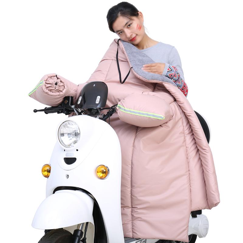 电动摩托车挡风被冬季加绒加厚PU皮质冬天电瓶车防风春秋保暖衣罩