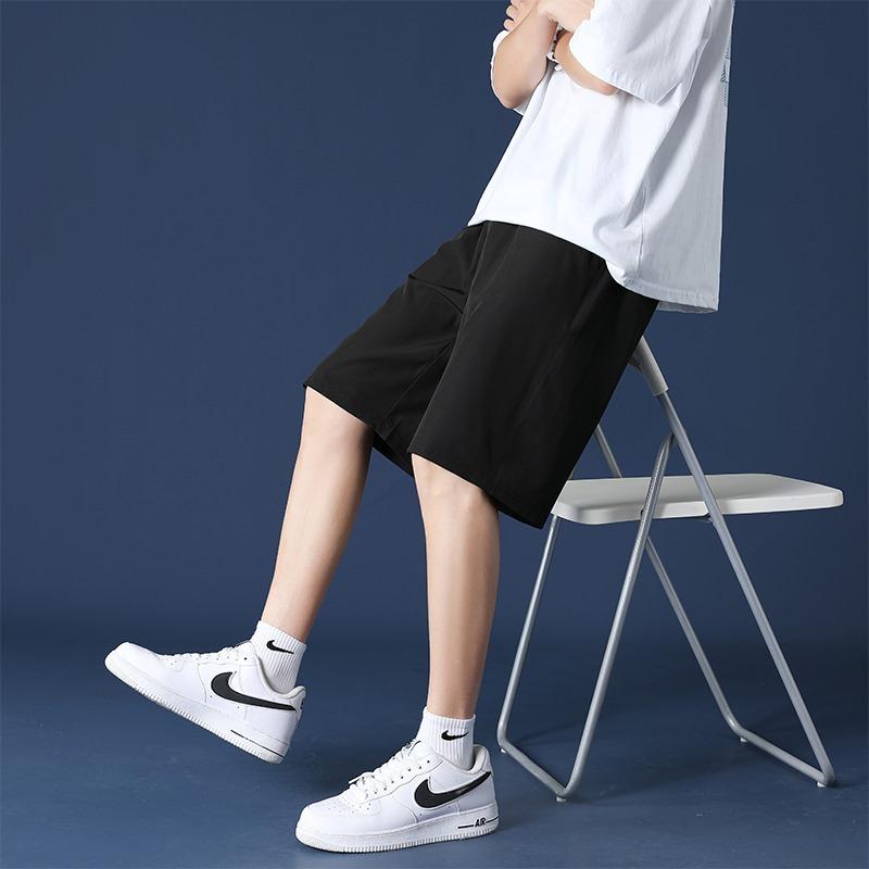 冰丝夏季短裤男薄款裤子外穿工装休闲男士五分裤百搭沙滩运动宽松