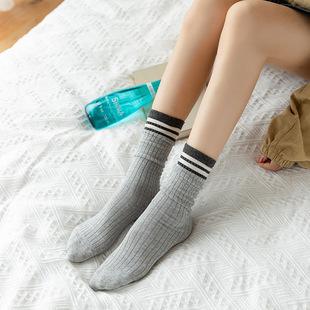 5双装 堆堆袜中筒学院风纯棉女袜