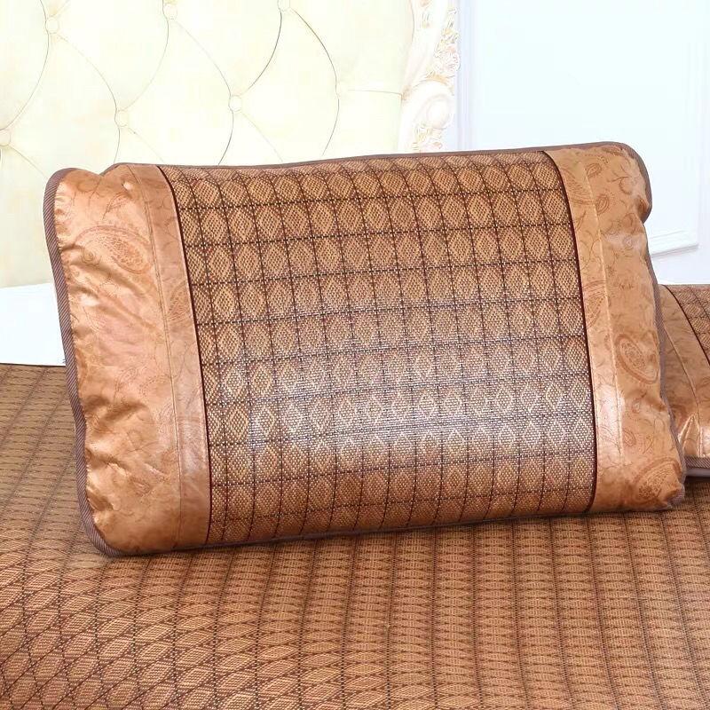 311夏季凉席枕头套冰丝藤枕套单人枕头套成人大号一对拍2防滑设计