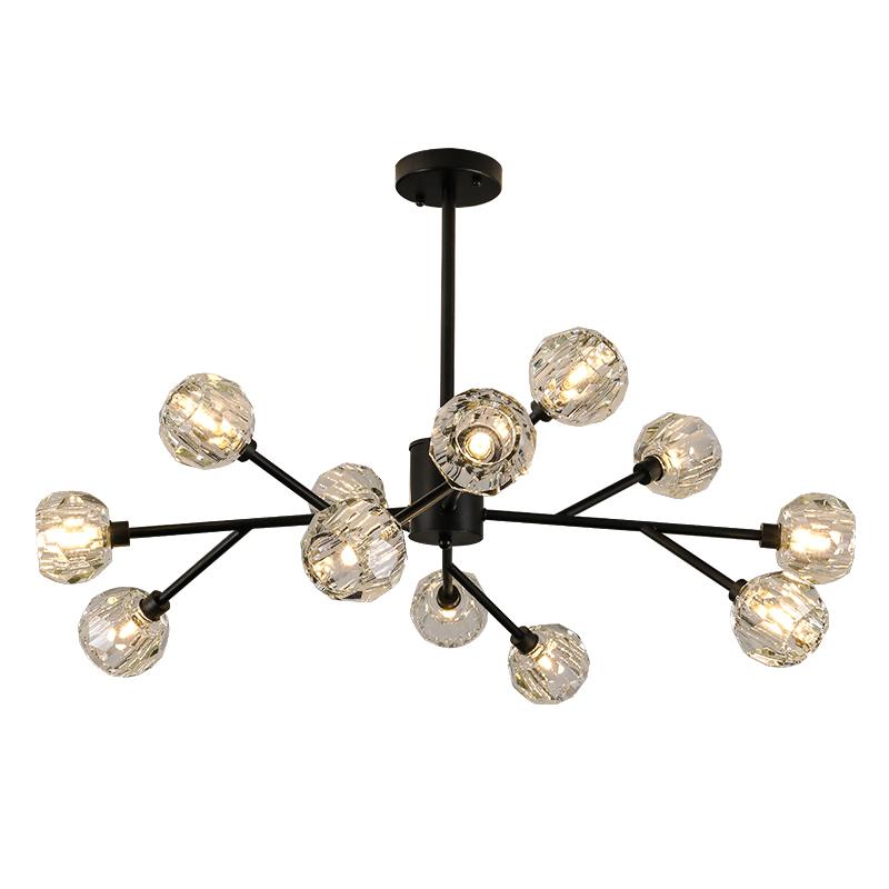 北欧吊灯客厅餐厅卧室灯具现代简约艺术灯饰网红轻奢水晶分子灯