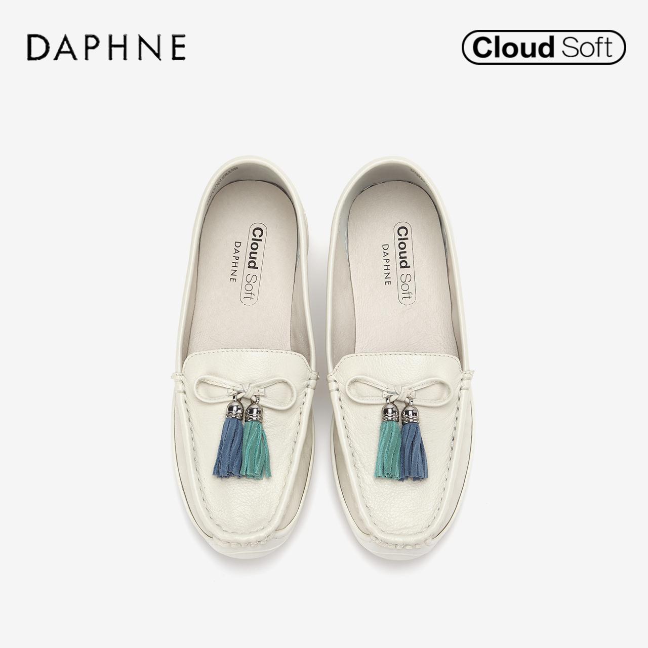 春新款文艺气质随姓牛皮流苏云软乐福鞋单鞋女 2019 达芙妮 Daphne