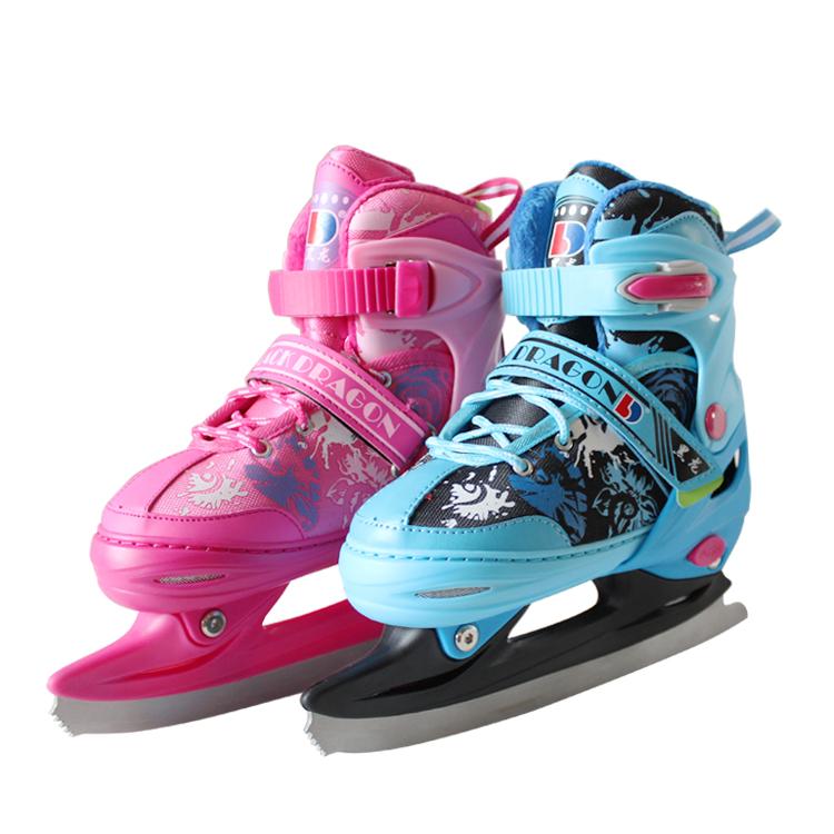 黑龙儿童成人 速滑冰刀鞋 花样冰刀球刀花式男女可调大小溜冰鞋高
