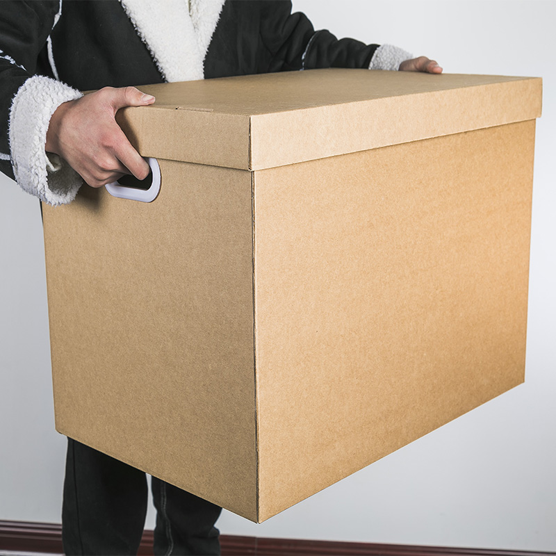 牛皮档案箱 整理纸质收纳箱收纳盒大号装书有盖零食文件纸箱