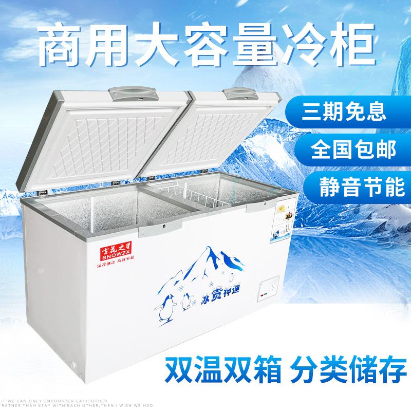 升节能商用单温双温两用大冰柜冷柜冷冻冷藏速冻雪柜 1018 雪花之星
