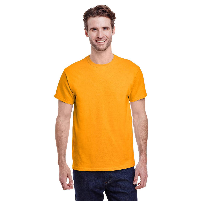 恤潮 T 圆领纯色夏季大码打底衫男女短袖 76000 吉尔丹 GILDAN 进口纯棉