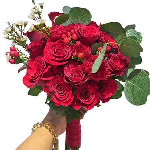 婚纱影楼红玫瑰手捧花结婚用品新娘花球婚礼花束道具广州深圳上海