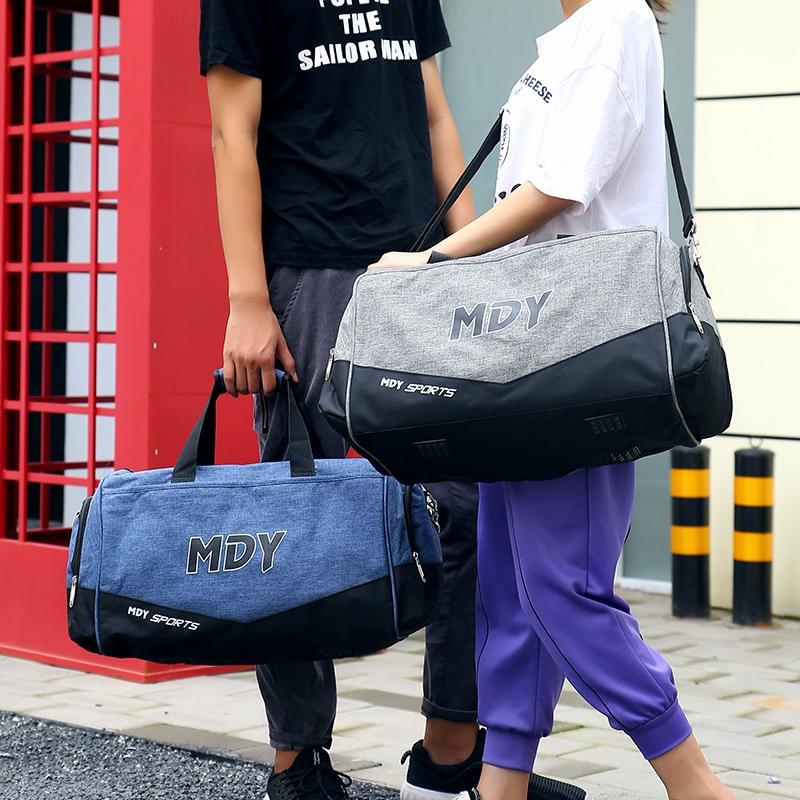 韩版手提旅行包女短途旅游出差防水大容量简约轻便行李包潮单肩包