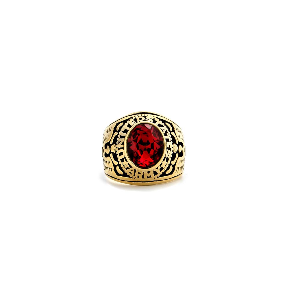 Classic 网红复古黑白宝石水晶戒指男女嘻哈夸张情侣装饰对戒  Bush