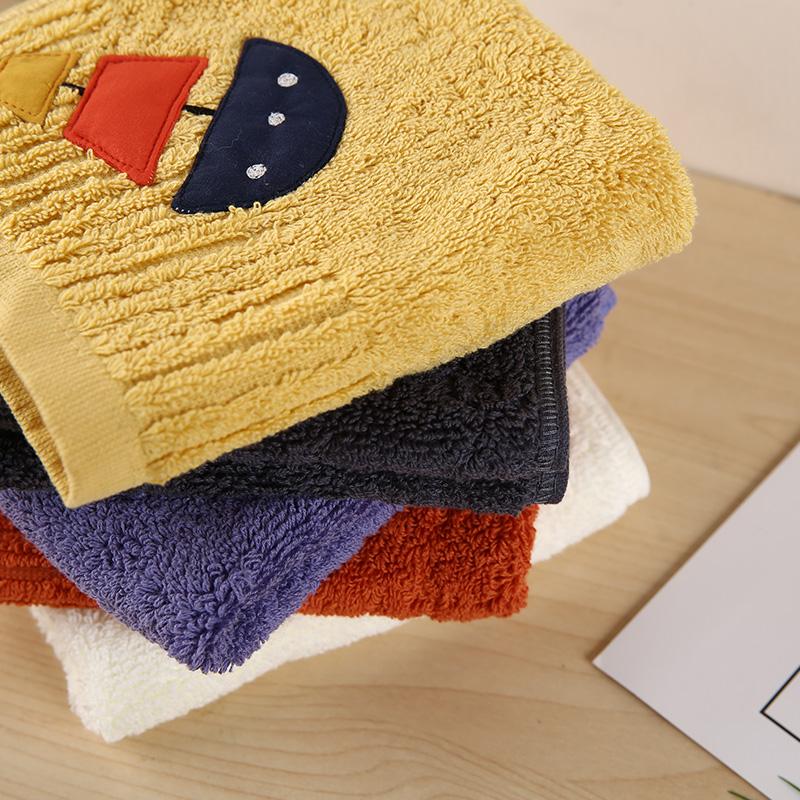 洗脸纯棉毛巾小方巾吸水不掉毛儿童擦手巾挂式可爱少女家用四方