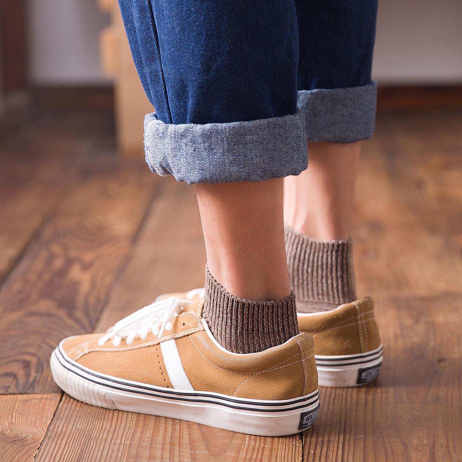 男袜子男士纯棉中筒袜防臭吸汗全棉毛线袜 潮流秋冬季长袜街头  ins