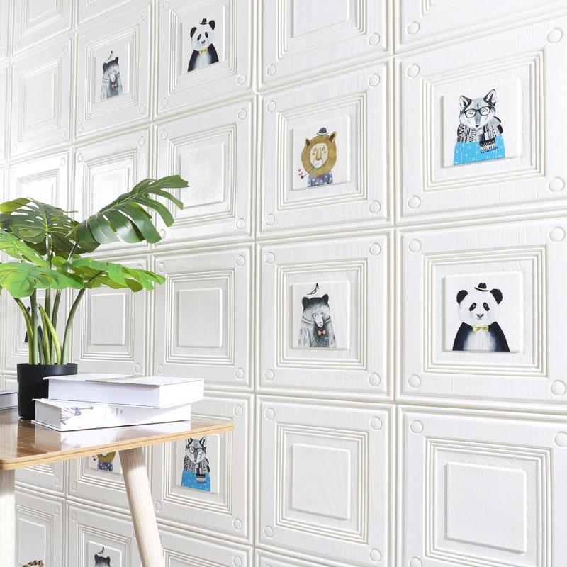 立体卧室温馨软包背景墙贴 3d 墙纸自粘防水防撞防潮背景墙装饰壁纸