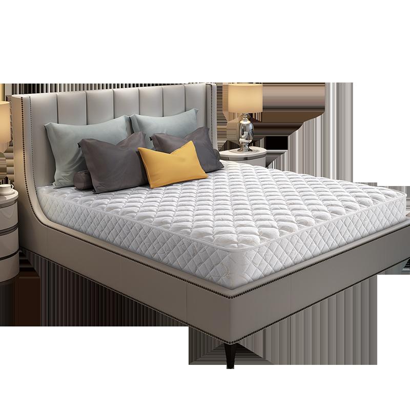 穗宝官方弹簧席梦思床垫加厚1.5m1.8米床经济型家用护脊 堪培拉