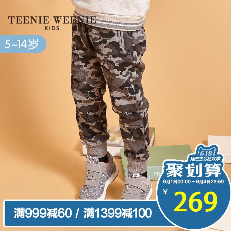 [淘寶網] TeenieWeenieKids小熊童裝2018春裝新款男童迷彩長褲TKTM81102B