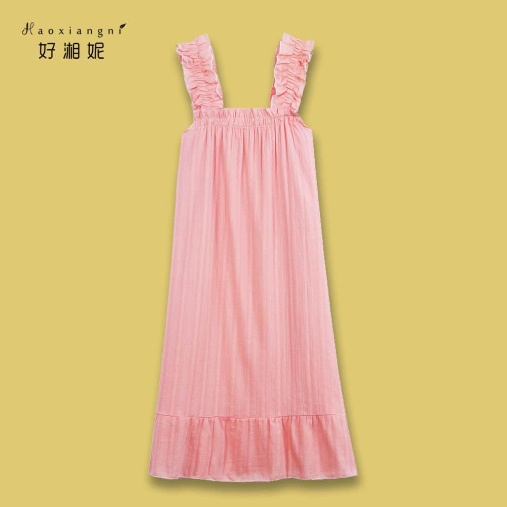 日系睡衣女夏季纯棉吊带睡裙可爱宽松连衣裙家居服薄款ins可外穿