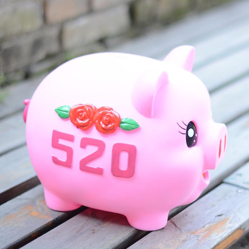 猪猪储蓄罐可爱卡通小猪存钱罐大防摔生日礼物 520 韩国创意超大号