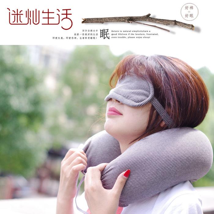 良品U型护颈枕头脖子颈椎U形旅行飞机靠枕午休趴睡枕颗粒定制logo