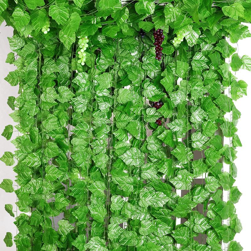 仿真葡萄叶藤条假花装饰花藤树叶绿叶藤蔓植物水管道缠绕塑料绿植