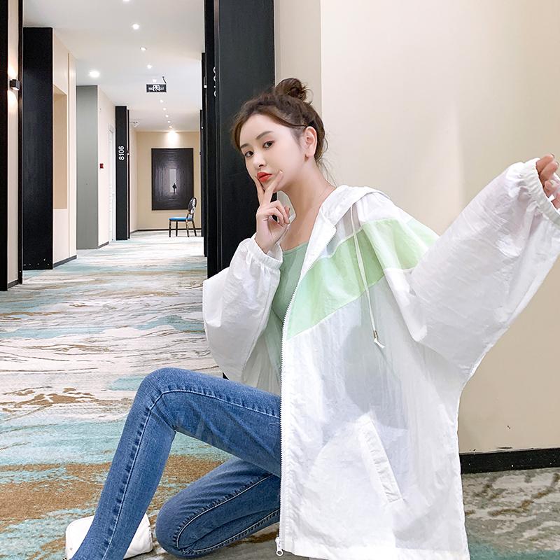 防晒衣女2021年夏季新款大码防晒服韩版宽松百搭洋气学生薄外套潮