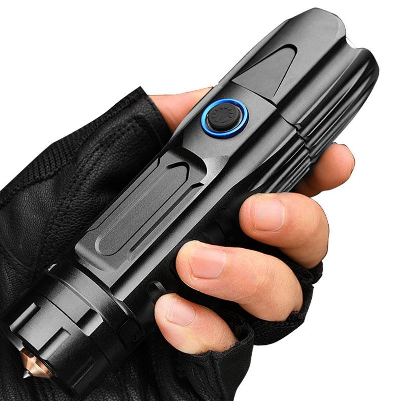 铭久 强光手电筒充电便携小户外超亮远射变焦打猎大功率氙气灯  P70