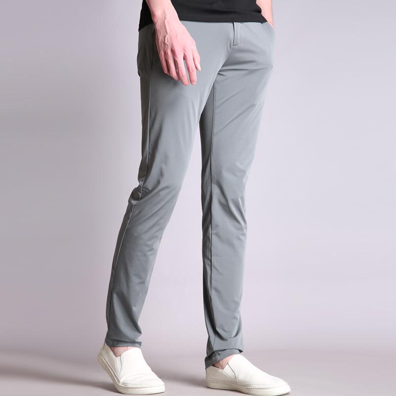 夏季没穿一样舒适男裤 高阶天丝浅灰色 男士长裤薄款商务休闲裤K5