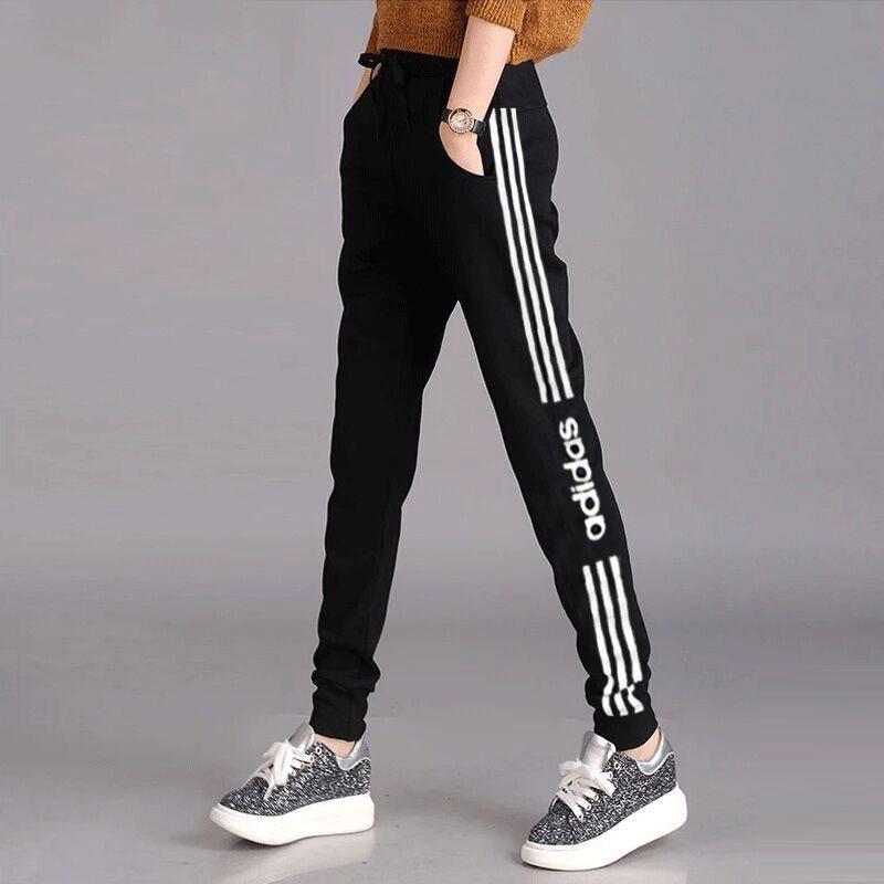 Adidas阿迪达斯裤子女2020春季新款长裤宽松休闲裤收口束脚运动裤