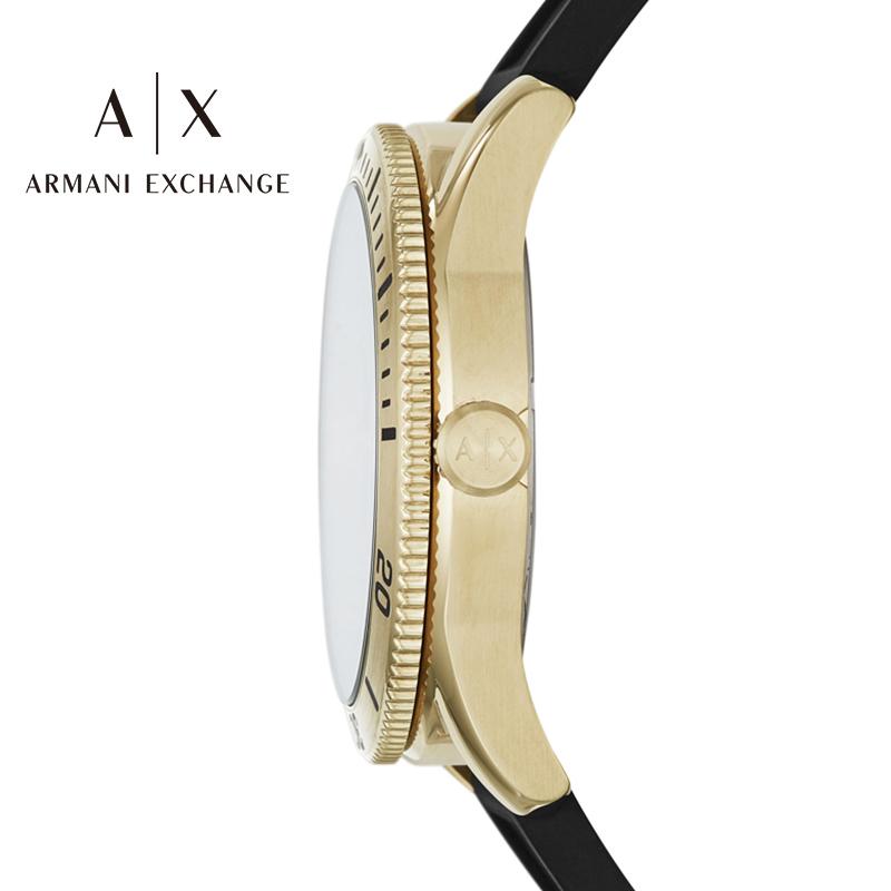 阿玛尼手表男Armani Exchange硅胶表带男休闲男士石英腕表AX1828