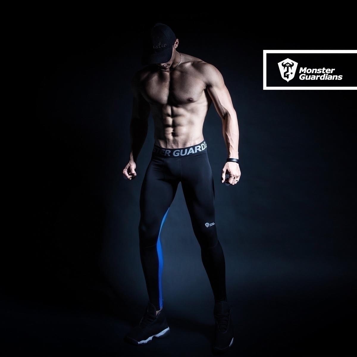 Monster Guardians 男子運動健身訓練緊身褲壓縮褲