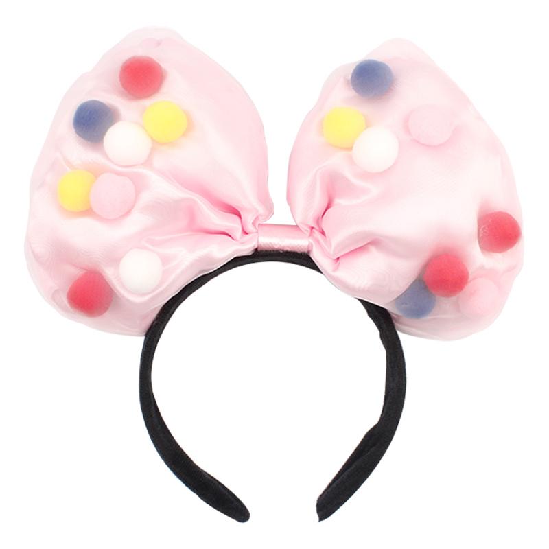 迪士尼发箍大蝴蝶结发箍毛球网纱蝴蝶结头箍头箍网红米奇发箍