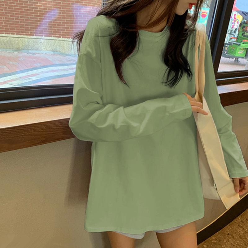内搭长袖t恤女装小众设计感2021年新款春秋季ins潮白色打底衫上衣