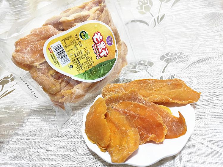 包邮 特色蜜饯零食 果干系列 鲜果连萌芒果干500克 新鲜果肉制作