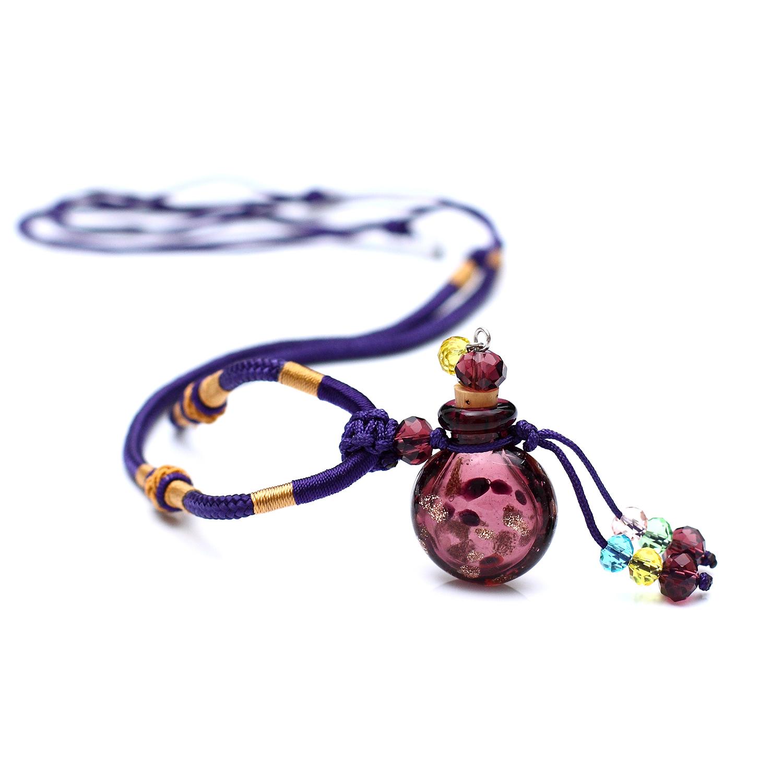 精緻紫色編織繩琉璃精油項鏈適用多特瑞Young Living 如新美樂家