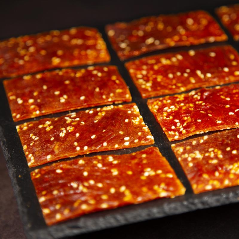 王上靖江特产猪肉脯干1斤5斤肉铺蜜汁味500g散装香辣整箱网红零食