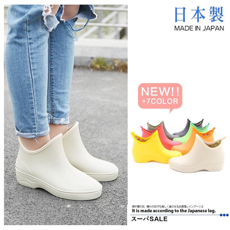 進口日本製造良牌網紅雨鞋女軟時尚短筒套鞋四季舒適防滑水鞋韓版