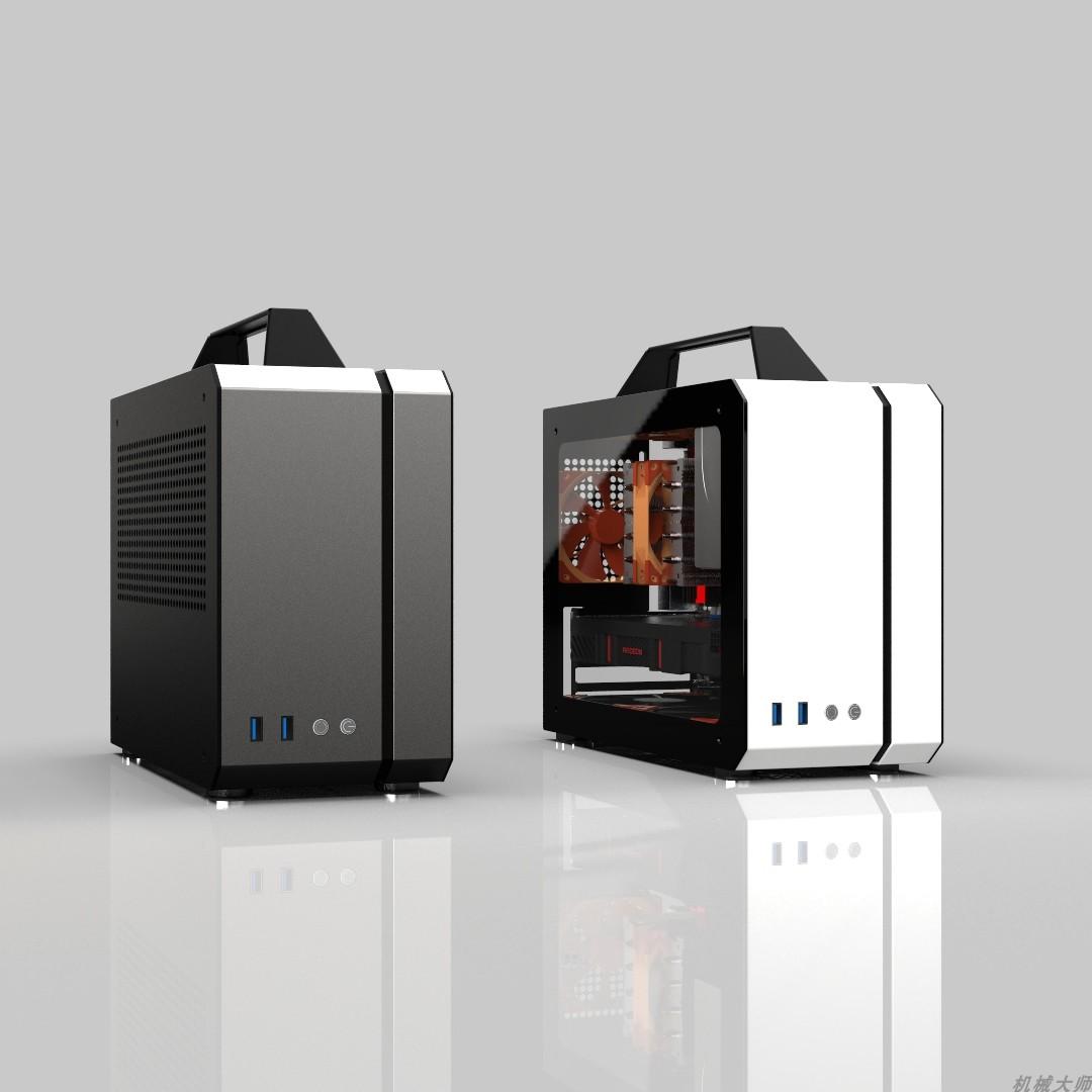 多功能電腦機箱 matx itx 便攜式 聲波 C26 機械大師