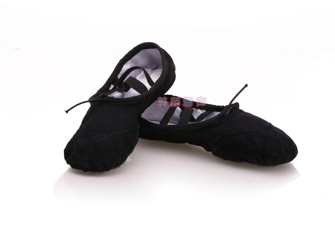 舞蹈鞋女软底练功鞋儿童小孩真皮便宜加厚帆布民族舞芭蕾舞猫爪鞋