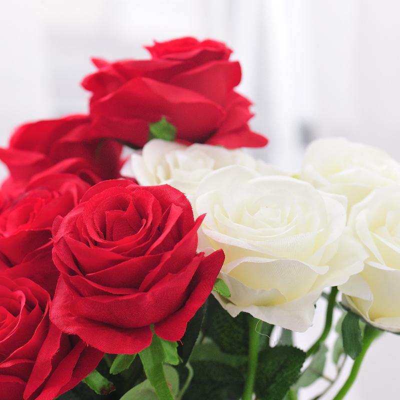 单支仿真花波斯菊跳舞兰家居客厅装饰花玫瑰芍药婚庆绢花摆设花卉