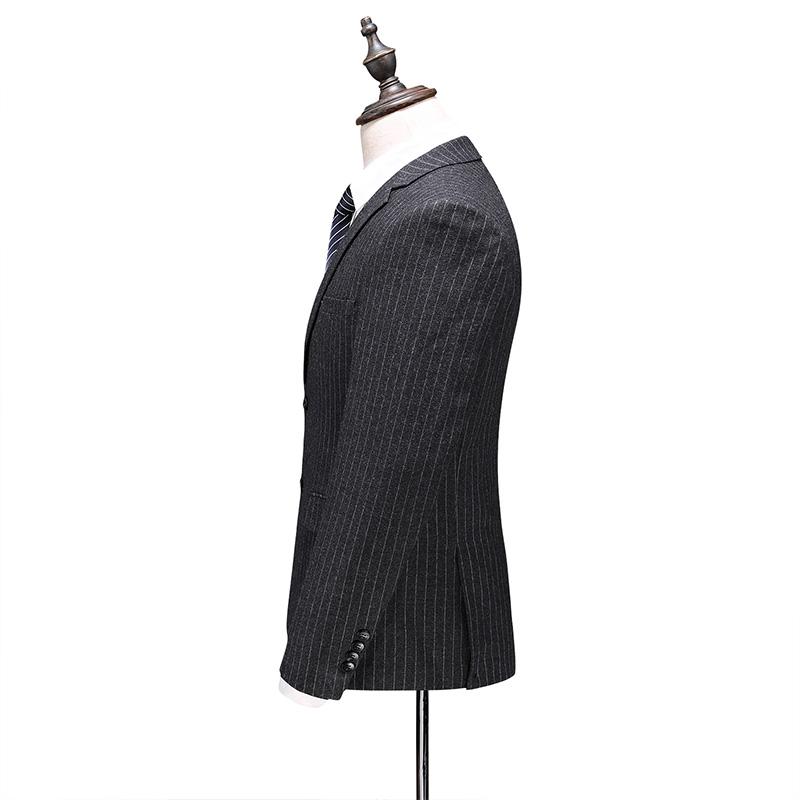 罗蒙商务西服套装新款正装修身职业装新郎伴郎结婚礼服男