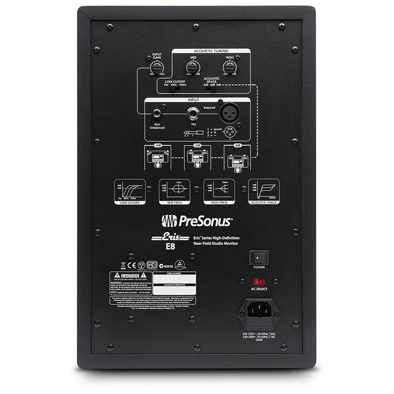 电脑电视机桌面书架音响 HIFI 有沾监听音箱 E8 E5 Eris PreSonus