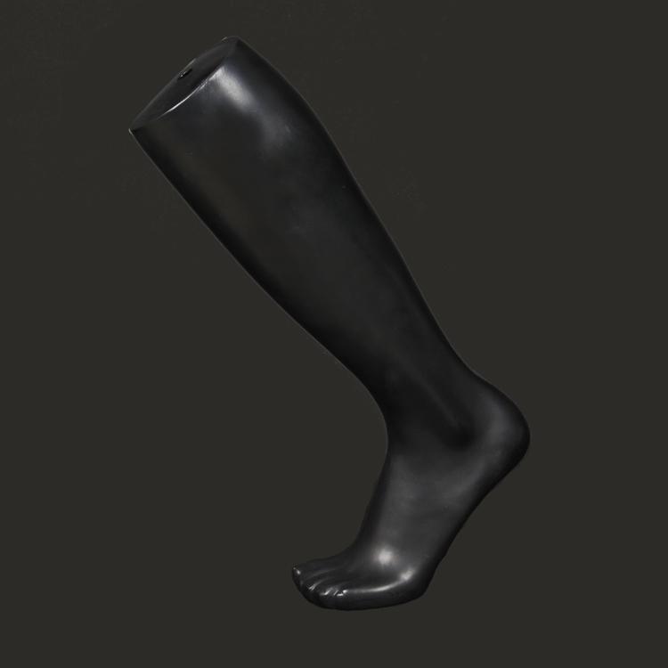 新款男足球袜模男士中腿中筒袜脚模足模脚模黑色白色男长袜子腿模