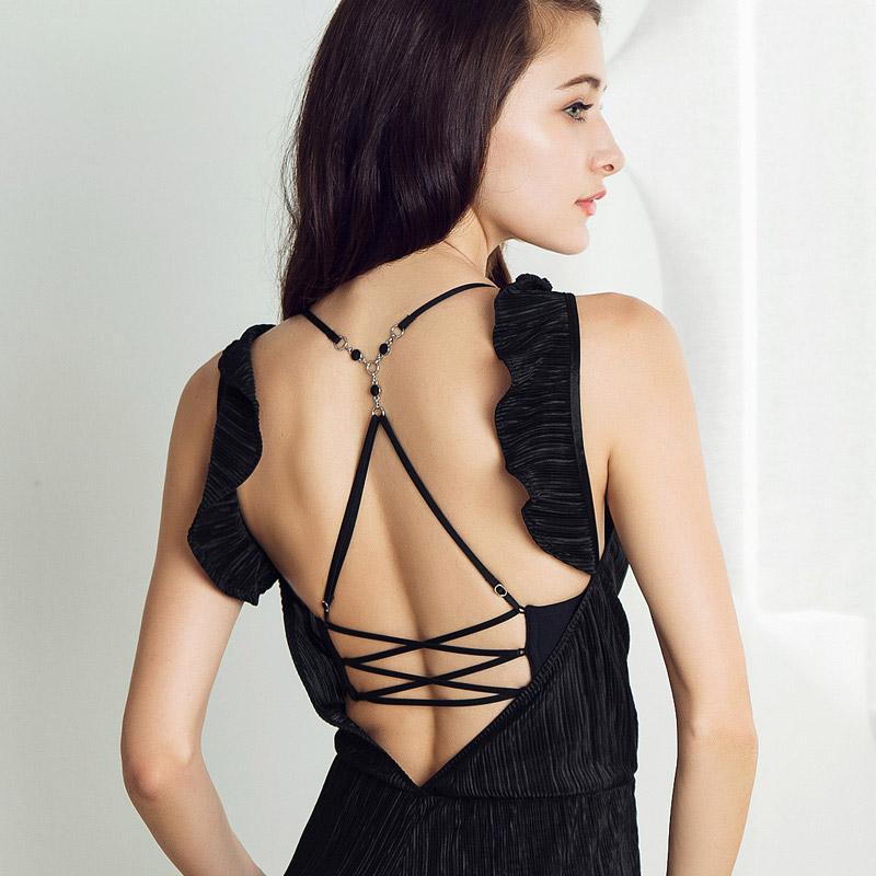 曼妮芬前扣y型肩带美背女士无痕薄款内衣 性感光面小胸聚拢文胸女